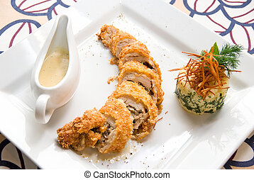 tasty gourmet foods of chicken meat - Baked Chicken meat...