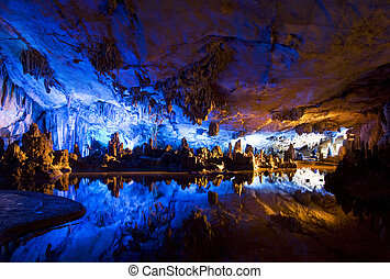 Stalactite and Stalagmite Formations - Image of stalactite...