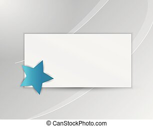 star with blank paper