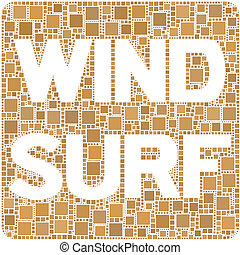Windsurf - The figure is composed by a mesh of squares...