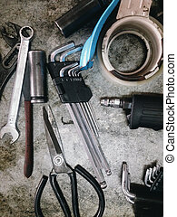 Assorted old hand tools