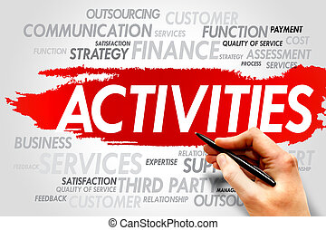 ACTIVITIES word cloud, business concept