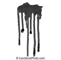 grunge black ink leaking isolated - photo grunge black ink...