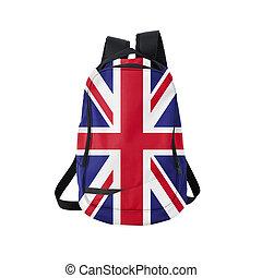 UK flag backpack isolated on white - British flag backpack...