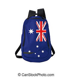 Australian flag backpack isolated on white - Australia flag...