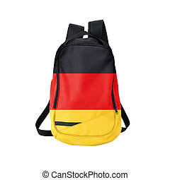 German flag backpack isolated on white - Germany flag...