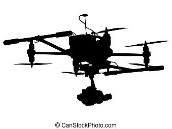 Camera on drone - Quadrocopter with photo equipment on a...