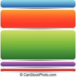 Different Button, Banner Shapes, Bars      Different Button, Banner Shapes, Bars