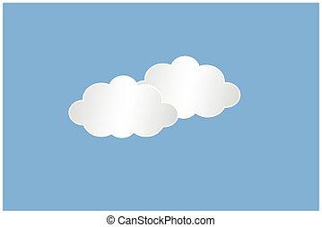 Web clouds - web white clouds
