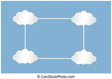 white clouds infografic