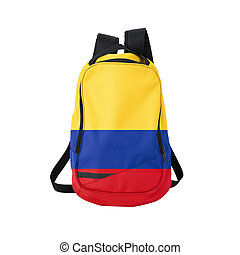 Colombia flag backpack isolated on white background Back to...