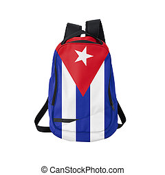 Cuba flag backpack isolated on white background Back to...