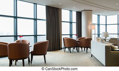 Interior of nice meeting room in hotel - Luxury business...