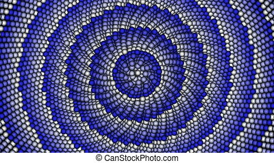 Background - Loopable cyclic animated kaleidoscopic spiral...