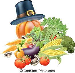 Thanksgiving vegatables illustratio - A thanksgiving...