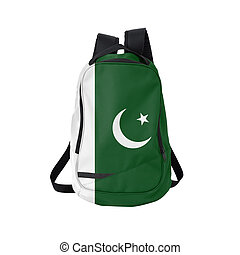 Pakistan flag backpack isolated on white background Back to...