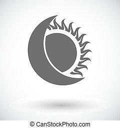 Solar eclipse single icon. - Solar eclipse. Single flat icon...