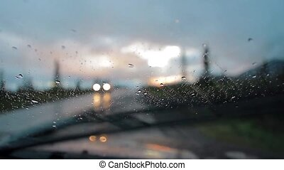 View on a Highway from a car