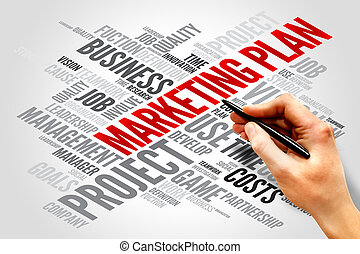 Marketing Plan word cloud, business concept