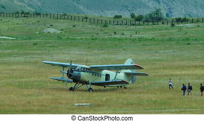 Cropduster Airplane At The Airfield Waiting For Parachutists