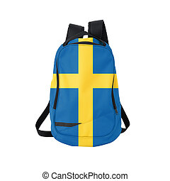 Sweden flag backpack isolated on white background Back to...