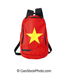 Vietnam flag backpack isolated on white background Back to...