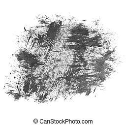 black ink painted brush strokes - photo black ink hand...