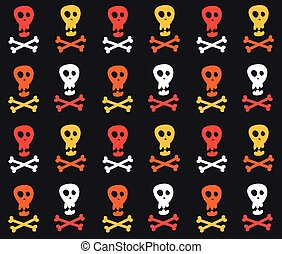 skull and crossbones pattern - Seamless pattern with skull...