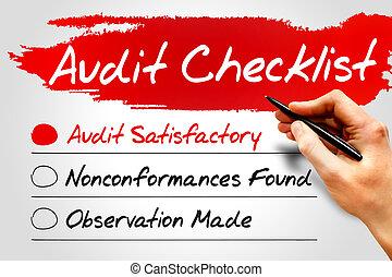Audit Checklist, business concept