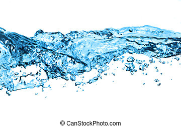 air bubbles in water isolated on white