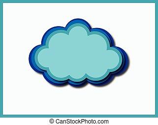computer cloud - blue wrb cloud