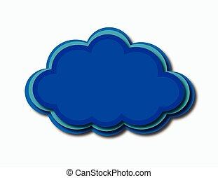blue cloud three color