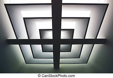 Abstract ceiling background interior