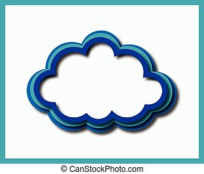 blue green cloud - blue wrb cloud in three colors