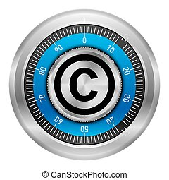 Copyright protection - Lock safe with the copyright symbol...