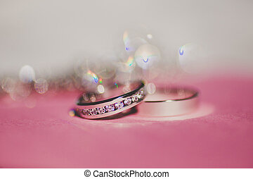 Beautiful silver background with wedding rings
