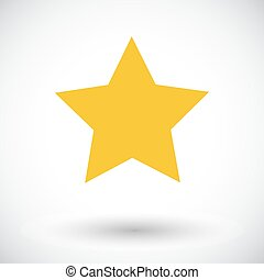 Star icon - Star Single flat icon on white background Vector...
