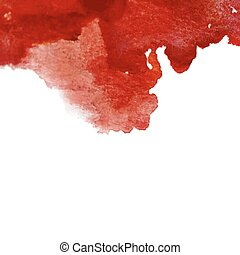 bloodstain - Vector watercolor red cherry ink spot. Wet...
