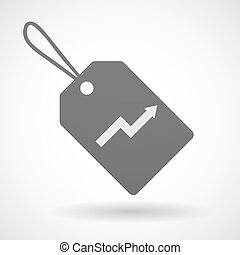 Shopping label icon with a graph
