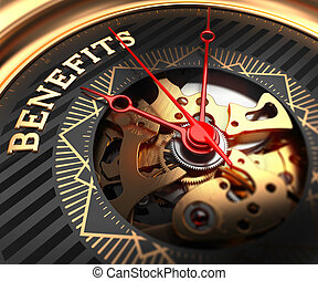 Benefits on Black-Golden Watch Face. - Benefits on...