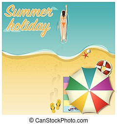 Summer Holiday Vacation Vector Background