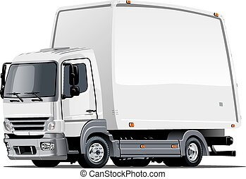 Cartoon delivery or cargo truck - Cartoon truck Available...