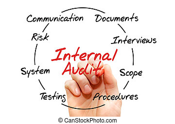 Internal Audit process chart, business concept