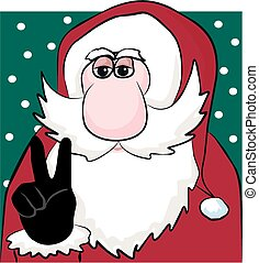 Peace and goodwill - A chilled out santa wants world peace...