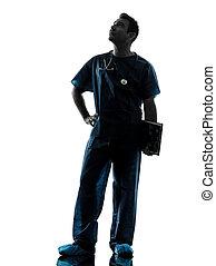 doctor man silhouette full length