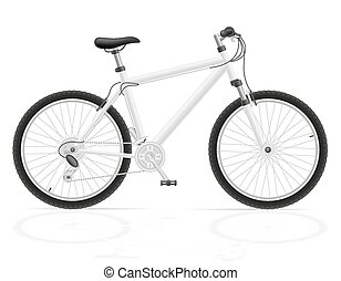 mountain bike with gear shifting vector illustration...