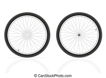 bicycle wheel vector illustration isolated on white...