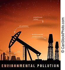 pollution concept ecology and oil - pollution concept of...