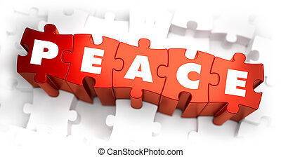 Peace - Text on Red Puzzles. - Peace - Text on Red Puzzles...