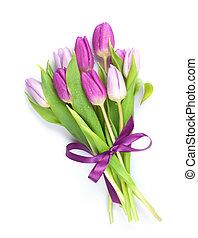 紫色, 鬱金香, 花束